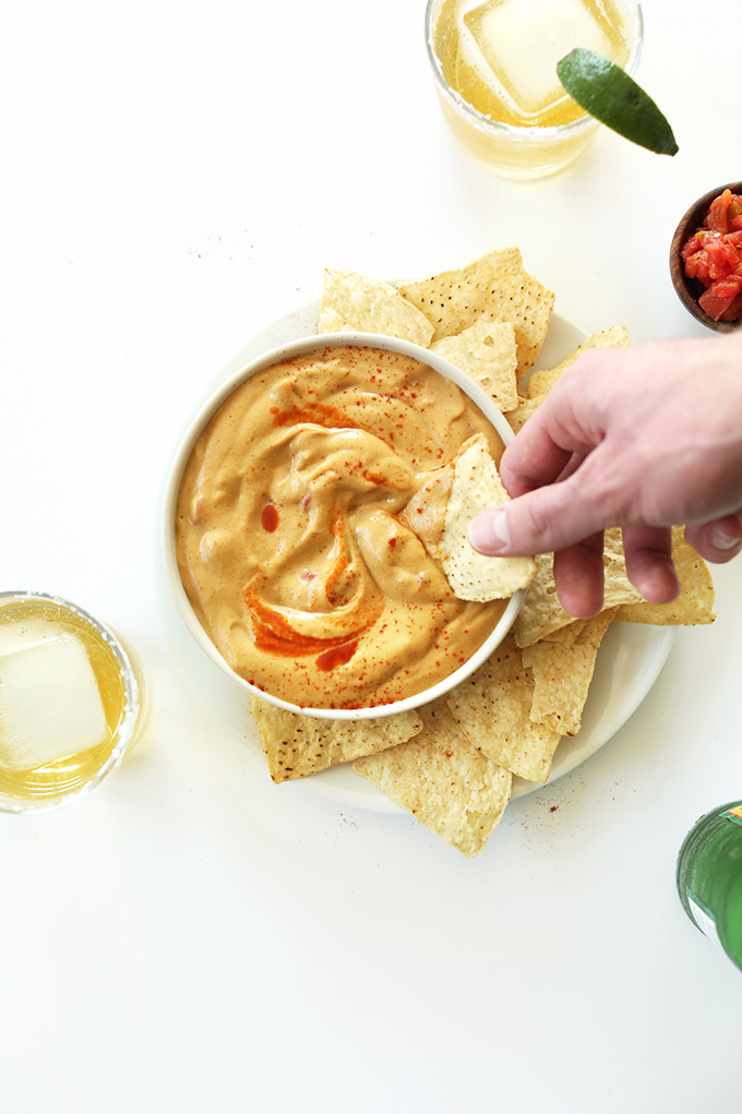 Cashew-less Vegan Queso from Minimalist Baker