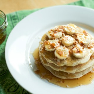 Banana Coconut Stuffed Pancakes
