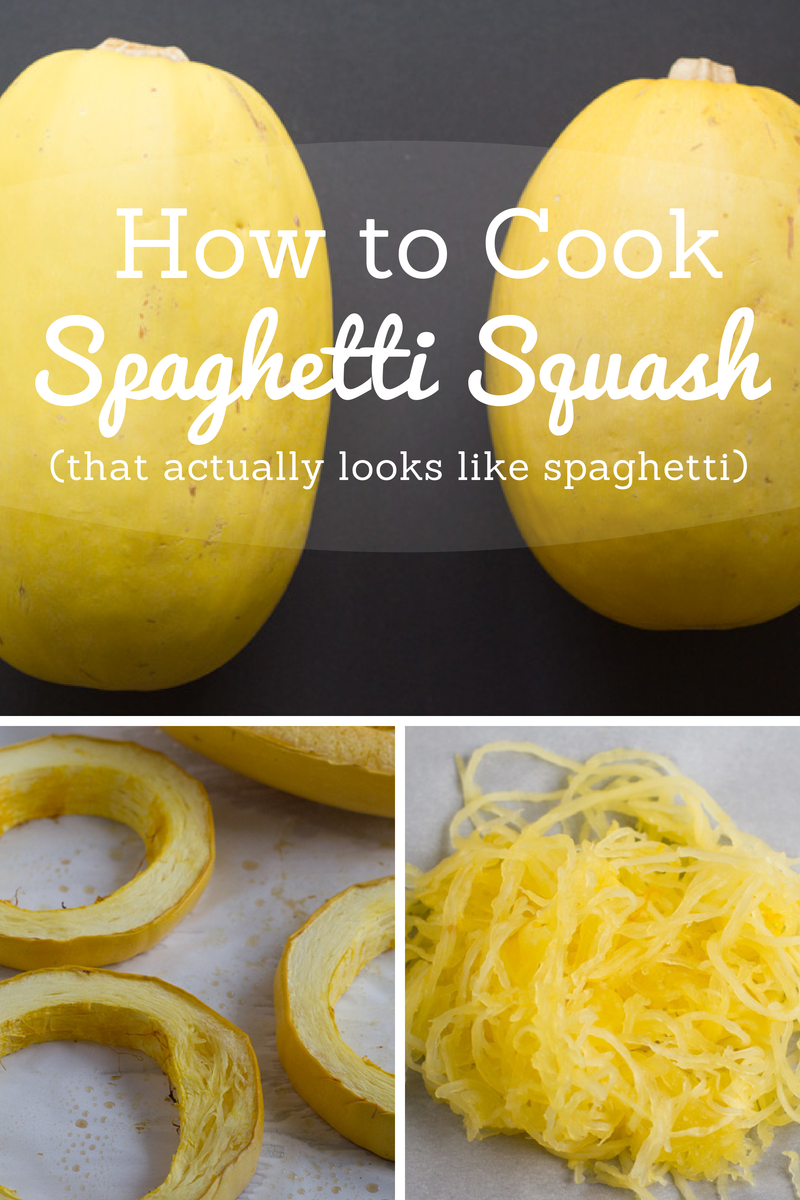 how to cut spaghetti squash in rings