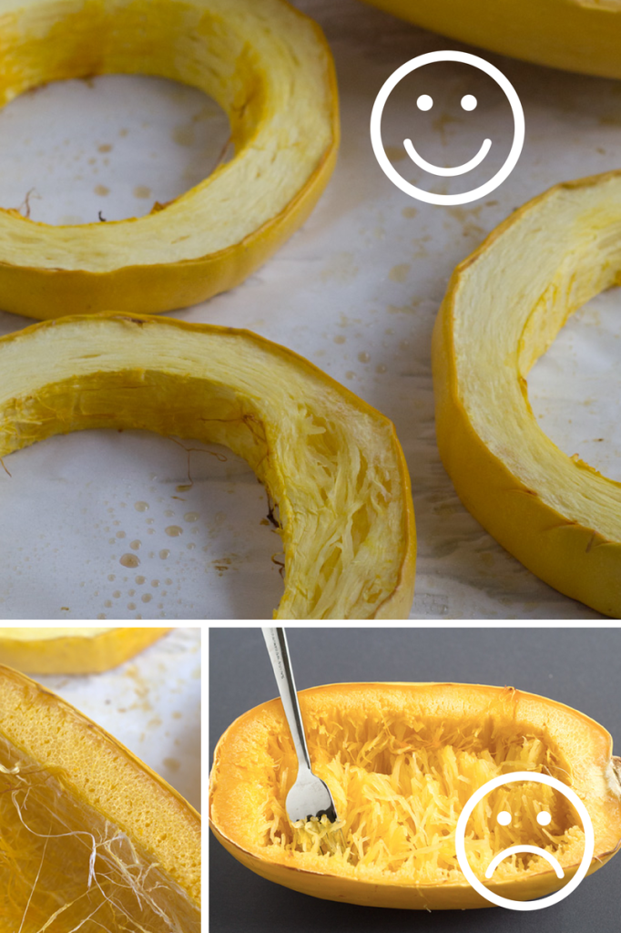 How to cook spaghetti squash that actually looks like spaghetti! | http://www.eatwithinyourmeans.com