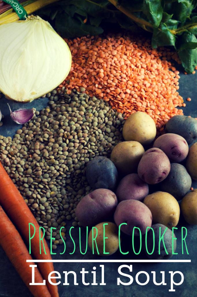 Pressure Cooker Lentil Soup | https://passtheplants.com