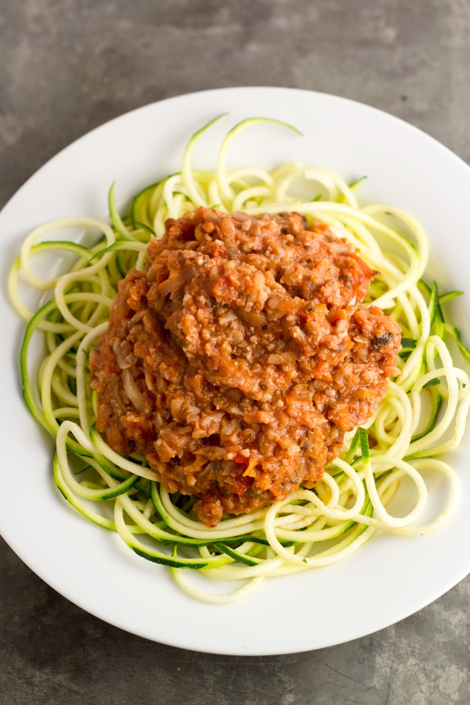 Vegetable BologneseEat Within Your Means