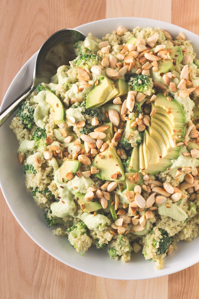 Bountiful Broccoli Quinoa Bowl | http://eatwithinyourmeans.com/