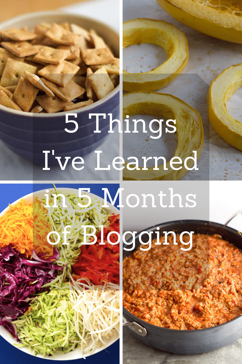 5 Things I've Learned in 5 Months of Blogging | http://eatwithinyourmeans.com | #blogging