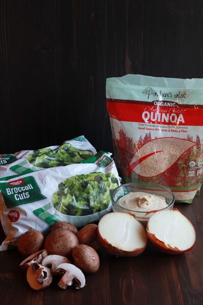 Vegan Broccoli Quinoa Casserole | https://eatwithinyourmeans.com