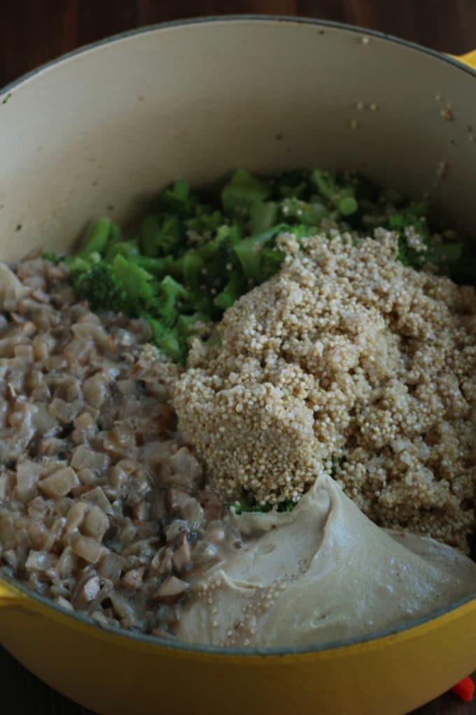 Vegan Broccoli Quinoa Casserole | http://eatwithinyourmeans.com