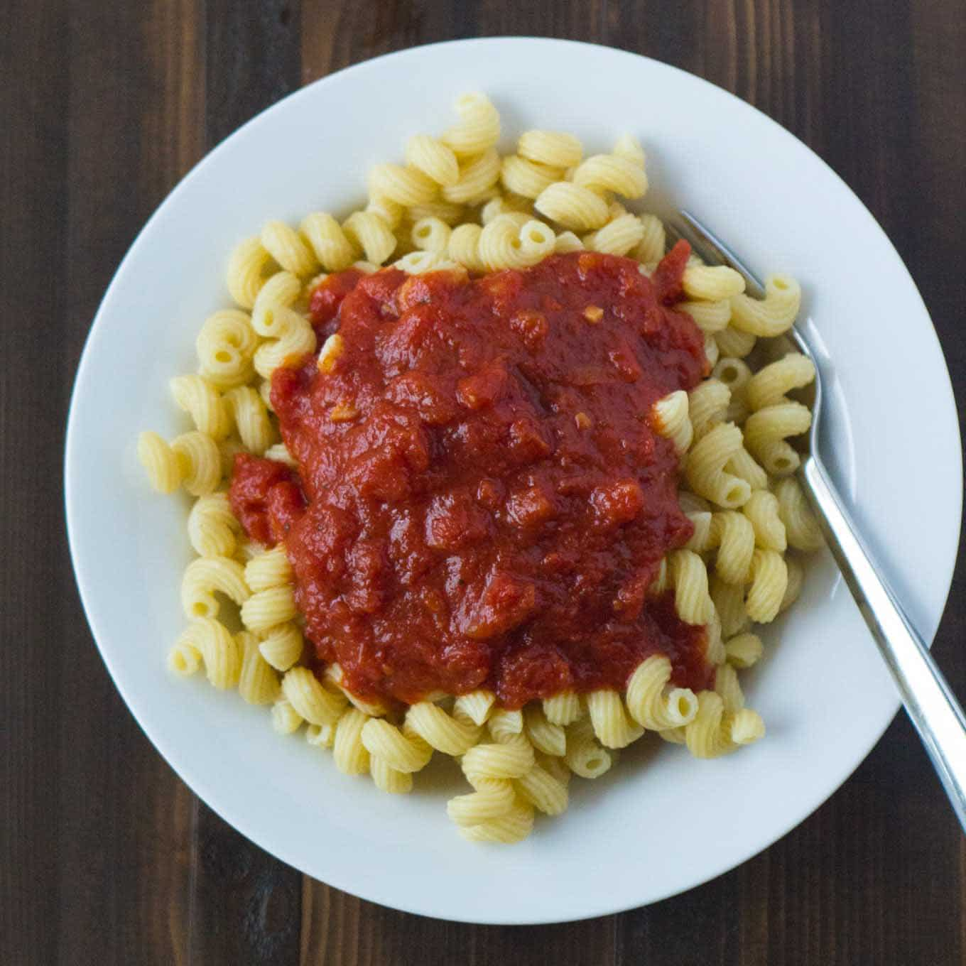 Cold Water Pasta Method | https://eatwithinyourmeans.com