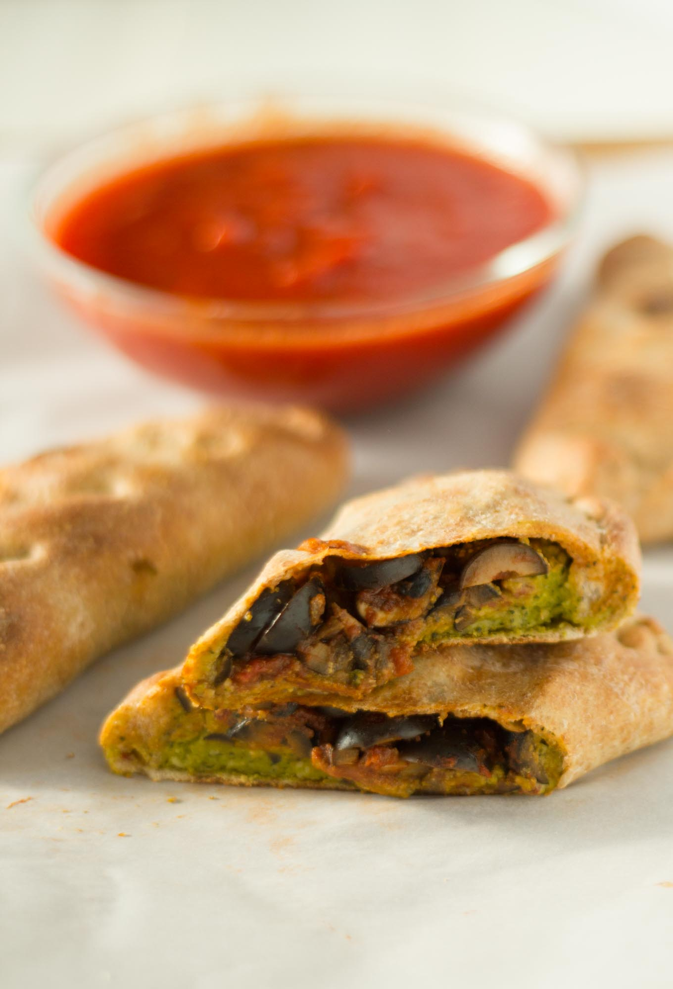 Vegan Calzones | http://eatwithinyourmeans.com/