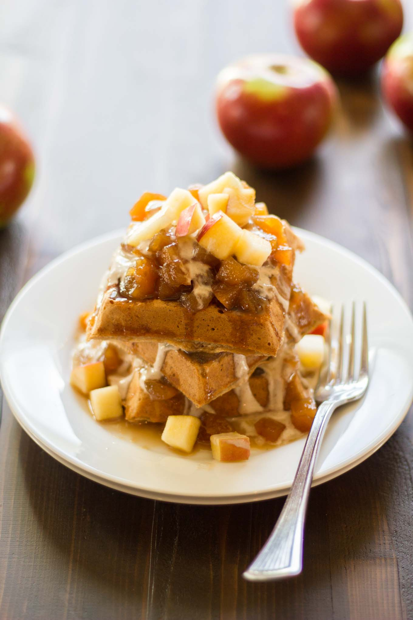 Apple Pie Waffles | http://eatwithinyourmeans.com