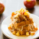 Apple Pie Waffles | https://eatwithinyourmeans.com