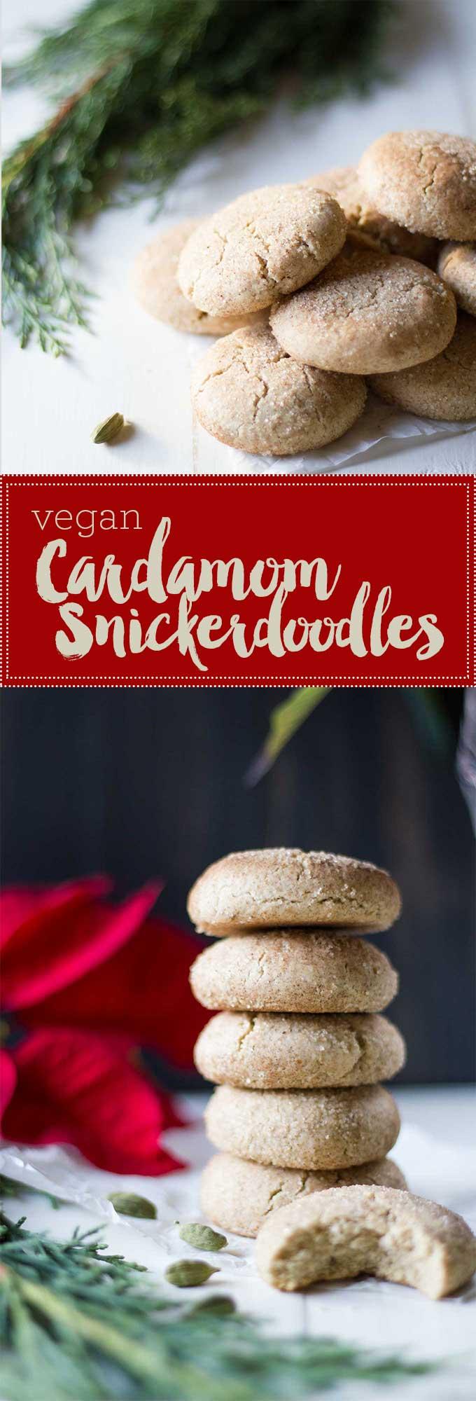 Vegan Cardamom Snickerdoodles