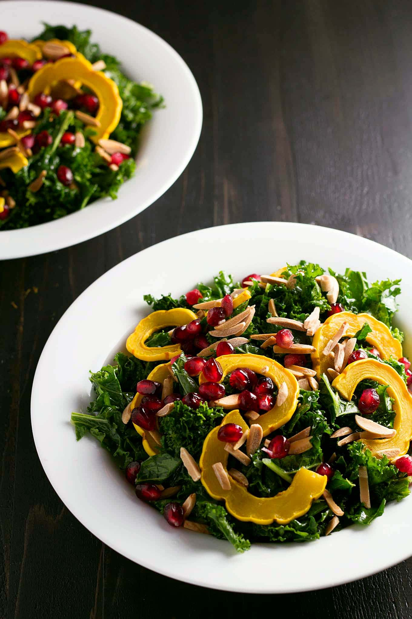 Winter Kale Salad with Orange, Delicata, and Pomegranate
