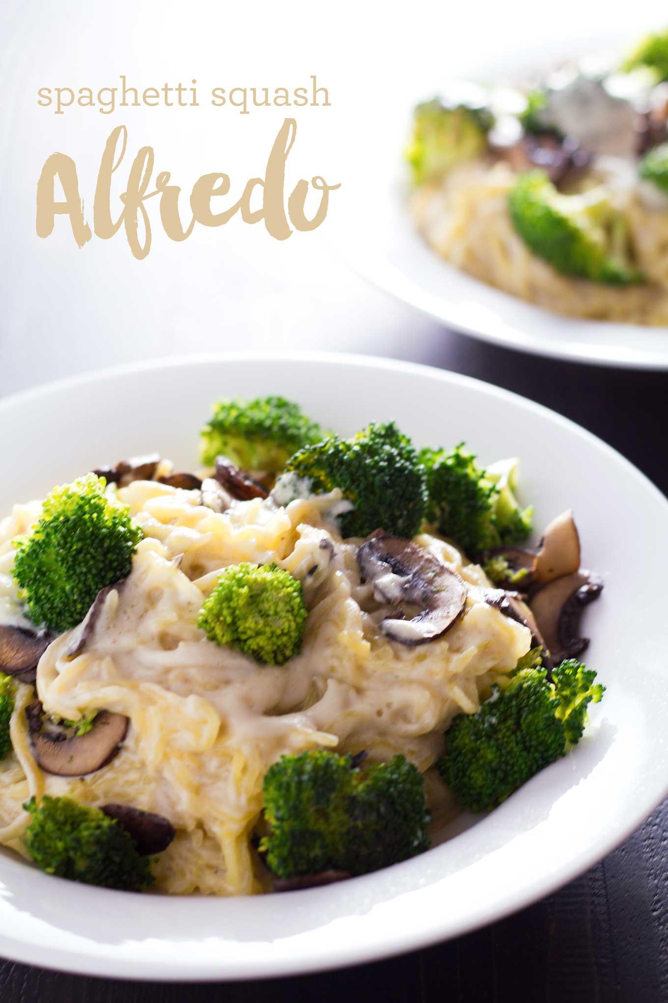 Spaghetti Squash Alfredo