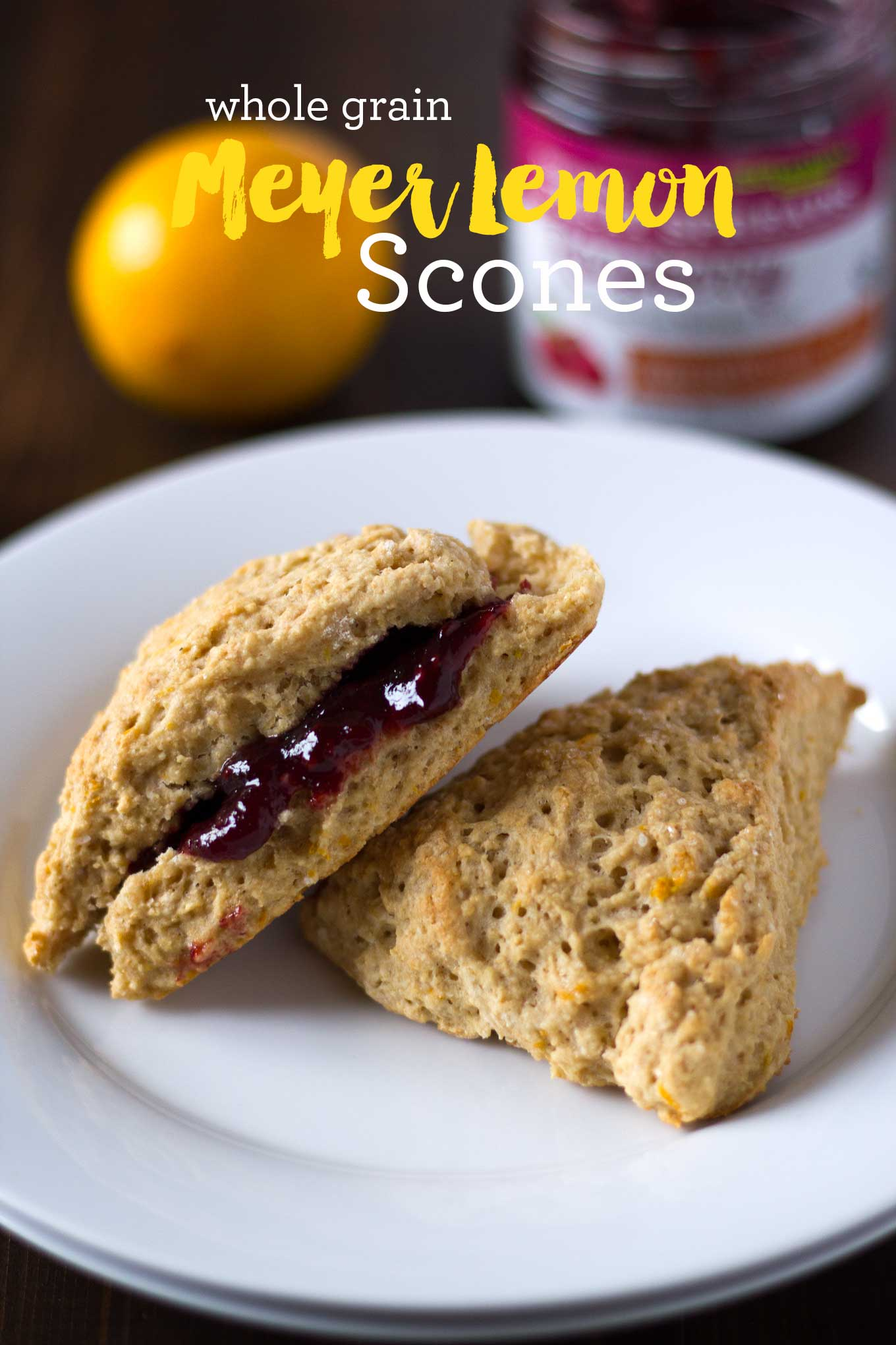 This Meyer Lemon Scones recipe is vegan, soy-free, and oil-free! | http://eatwithinyourmeans.com