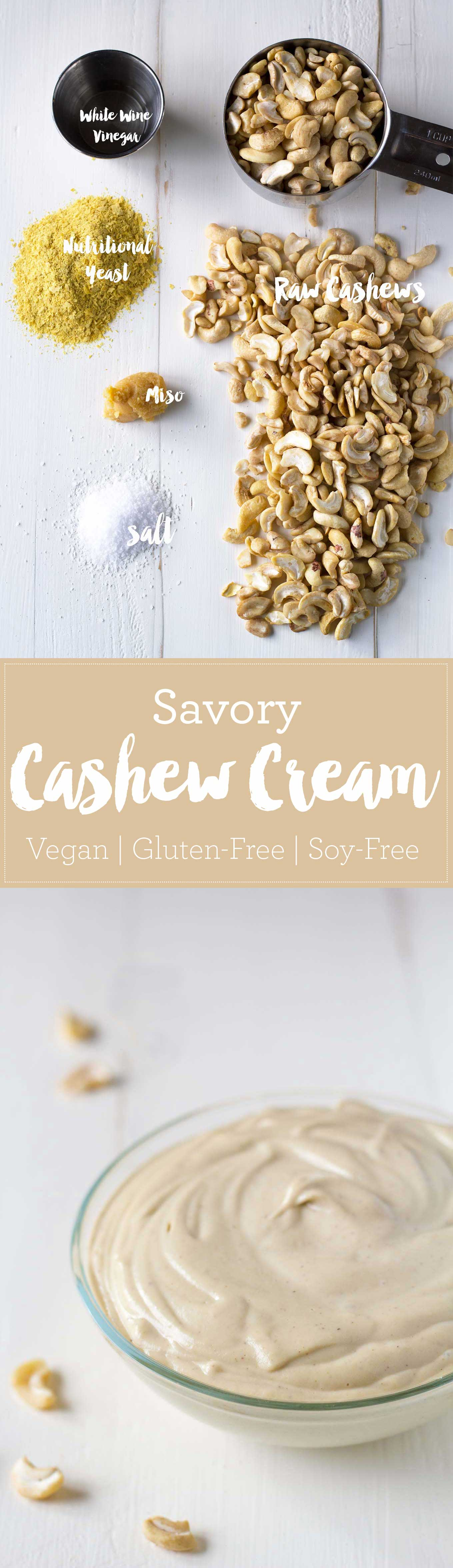 Use this savory cashew cream as a spread, add it to soups as a thickener, or use a soy-free vegan mayonnaise substitute! | http://eatwithinyourmeans.com