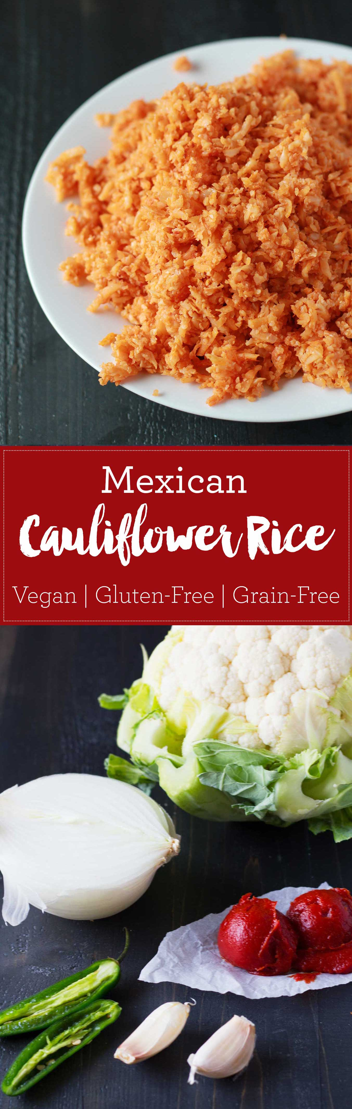 Mexican Cauliflower Rice (Coliflor Arroz Rojo) | https://passtheplants.com
