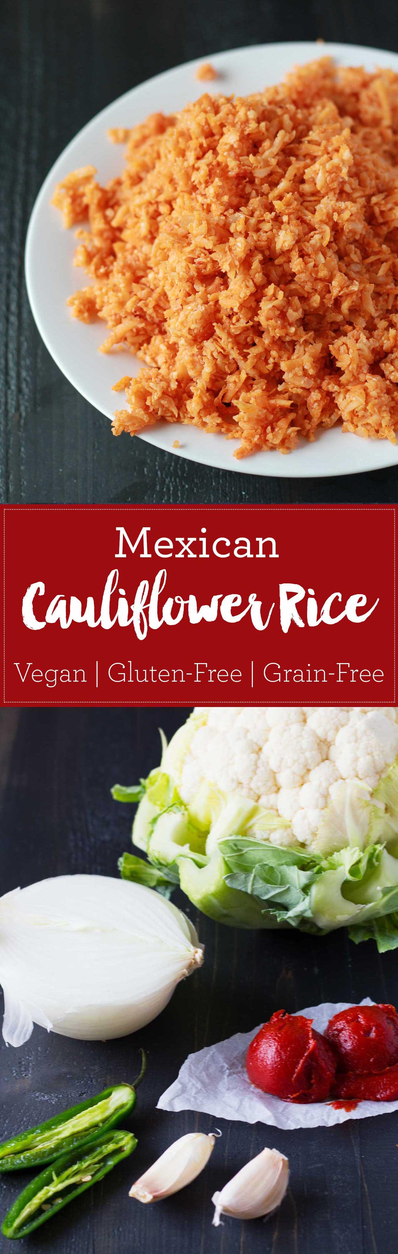 Mexican Cauliflower Rice (Coliflor Arroz Rojo) | https://eatwithinyourmeans.com