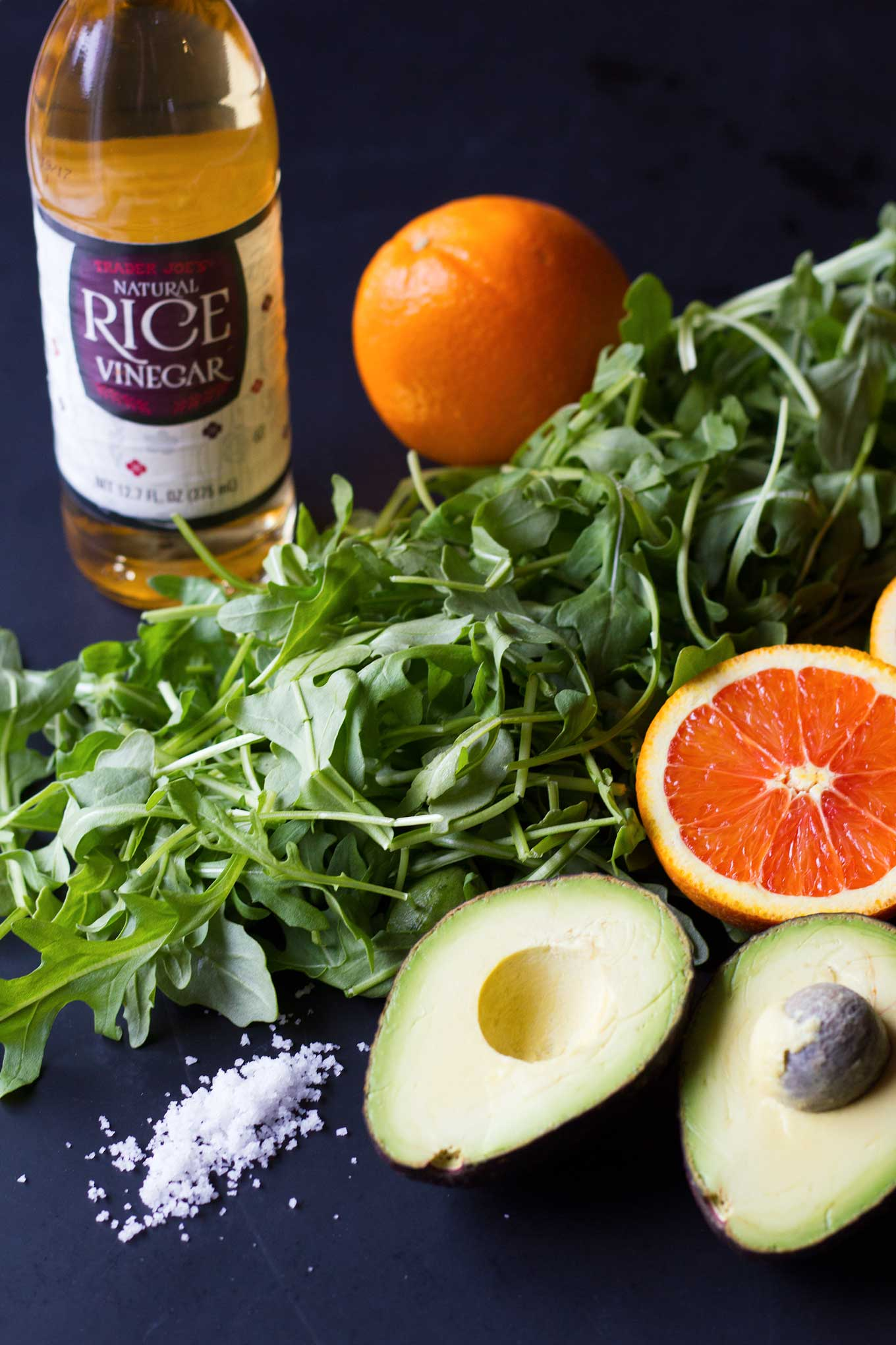 Arugula Salad with Avocado and Cara Cara Oranges - Vegan, Oil-Free, Gluten-Free| https://eatwithinyourmeans.com