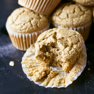 These no-bowl muffins are made in the blender! Vegan, oil-free, gluten-free, and super soft! | https://eatwithinyourmeans.com