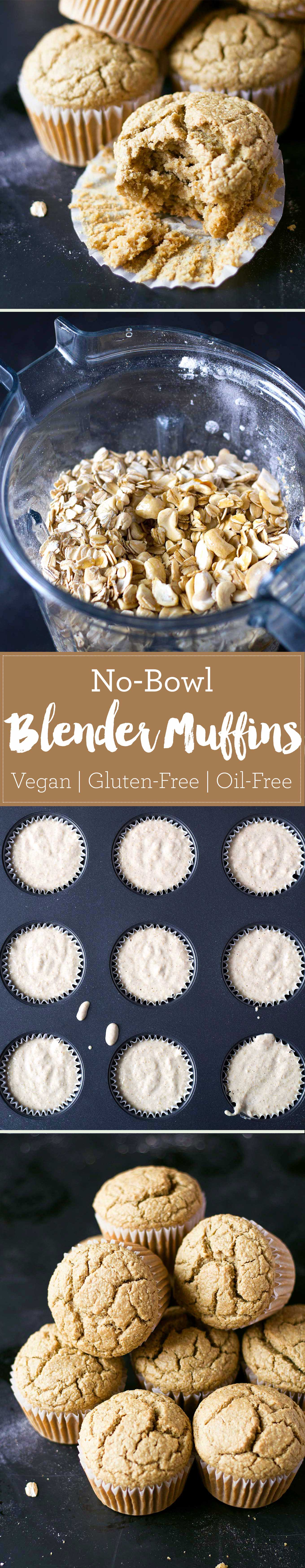 These vegan blender muffins are healthy and so easy to make! Oil-free, gluten-free, and super soft! | http://eatwithinyourmeans.com