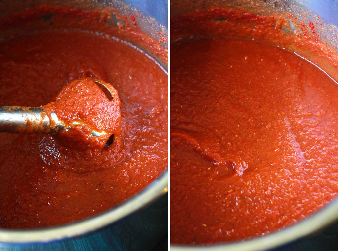 Make this protein-packed marinara sauce in your pressure cooker in 30 minutes! Vegan, gluten-free, and so healthy with veggies and lentils hidden in the sauce! | https://passtheplants.com