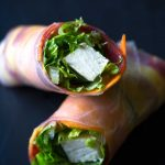 These easy vegan salad rolls (or spring rolls) are fresh and flavorful, and a feast for the eyes! Pair them with sweet potato peanut sauce for a healthy meal or snack! | http://eatwithinyourmeans.com