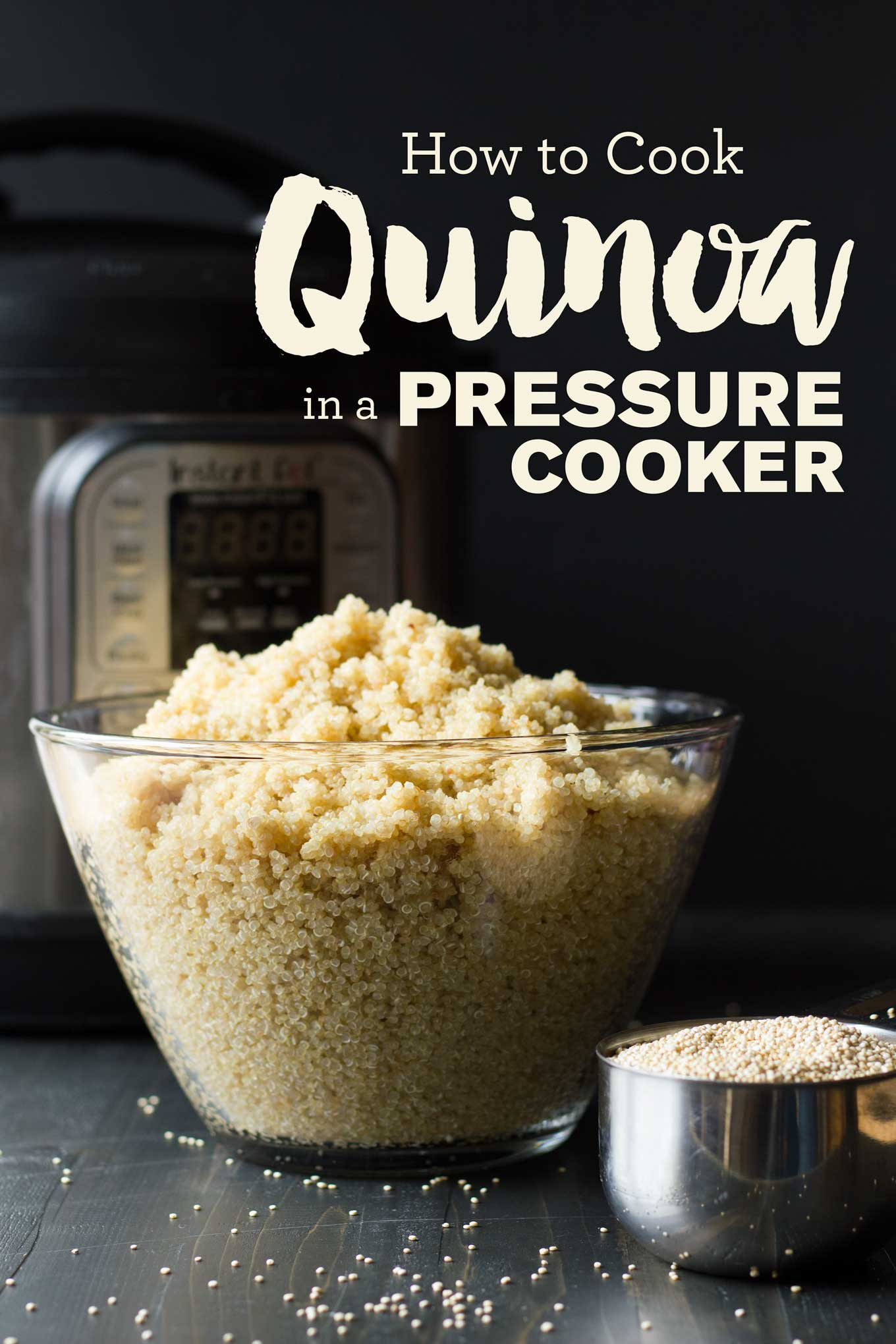 Pressure Cooker Quinoa | If you can remember the number 1, you can cook perfect quinoa in the pressure cooker! | Instant Pot Quinoa | http://eatwithinyourmeans.com