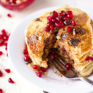 Pomegranate Chocolate Chip Pancakes