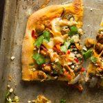 Thai Chickpea Pizza