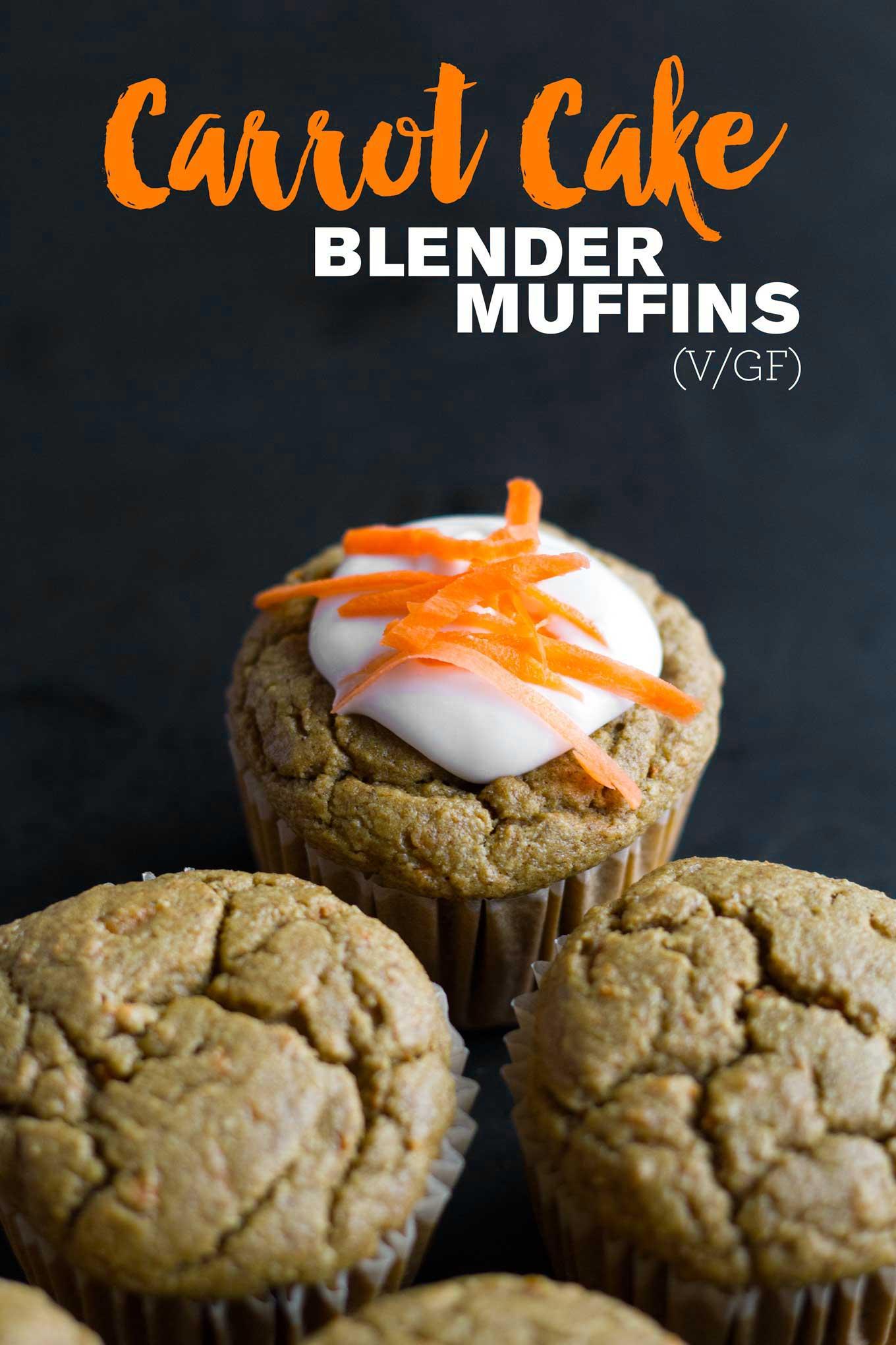 Carrot Cake Blender Muffins (V/GF)