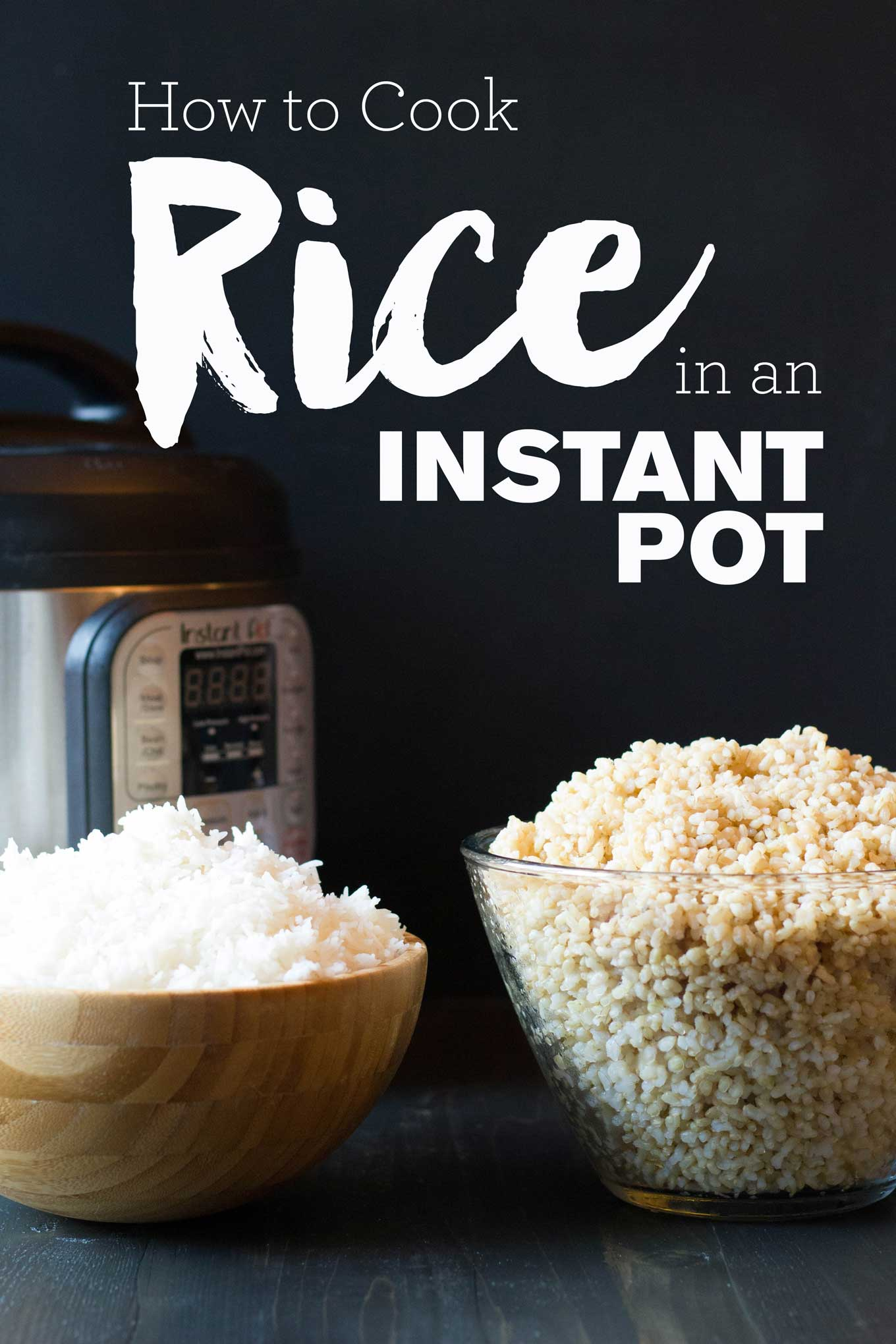 How to Cook Rice in an Instant Pot | Cook White Rice Instant Pot | Cook Brown Rice Instant Pot | https://passtheplants.com