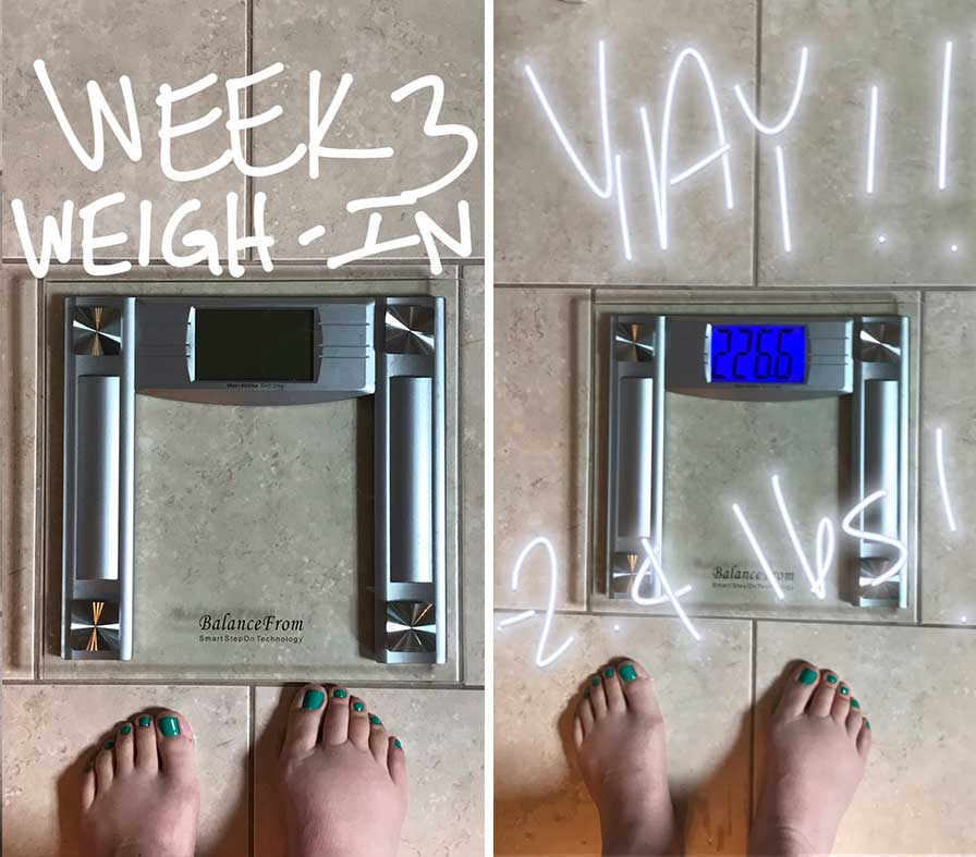 Finding My Means - Week 3 Update | Weight Loss | http://www.eatwithinyourmeans.com/