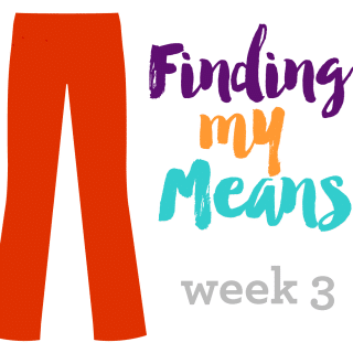 Finding My Means – Week 3 Update