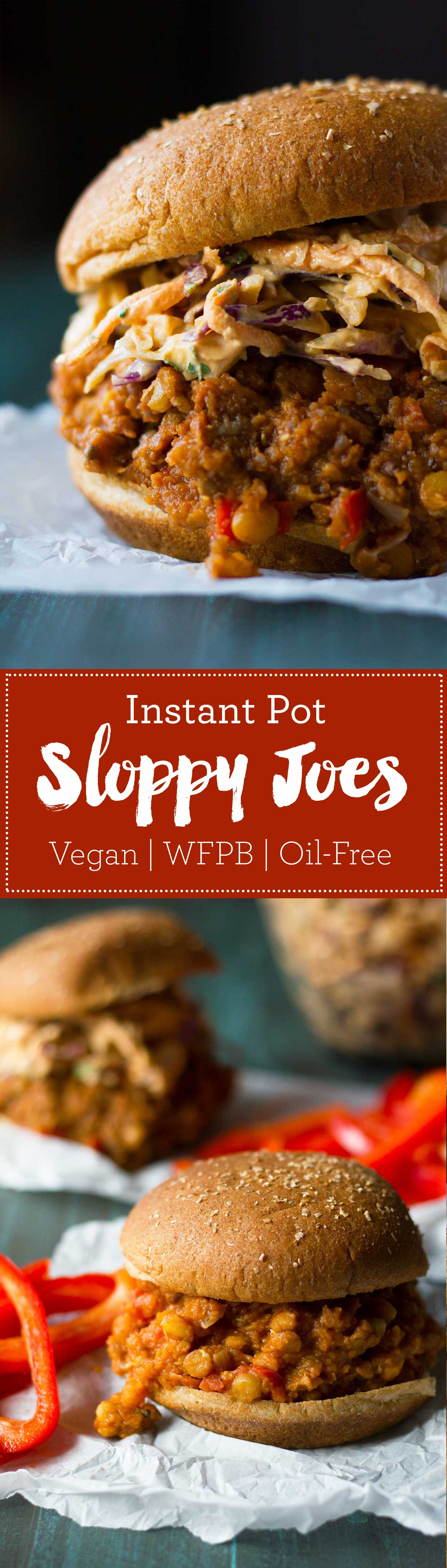Instant Pot Vegan Sloppy Joes | Recipe | Plant-based | Oil-free | Vegan | https://passtheplants.com/