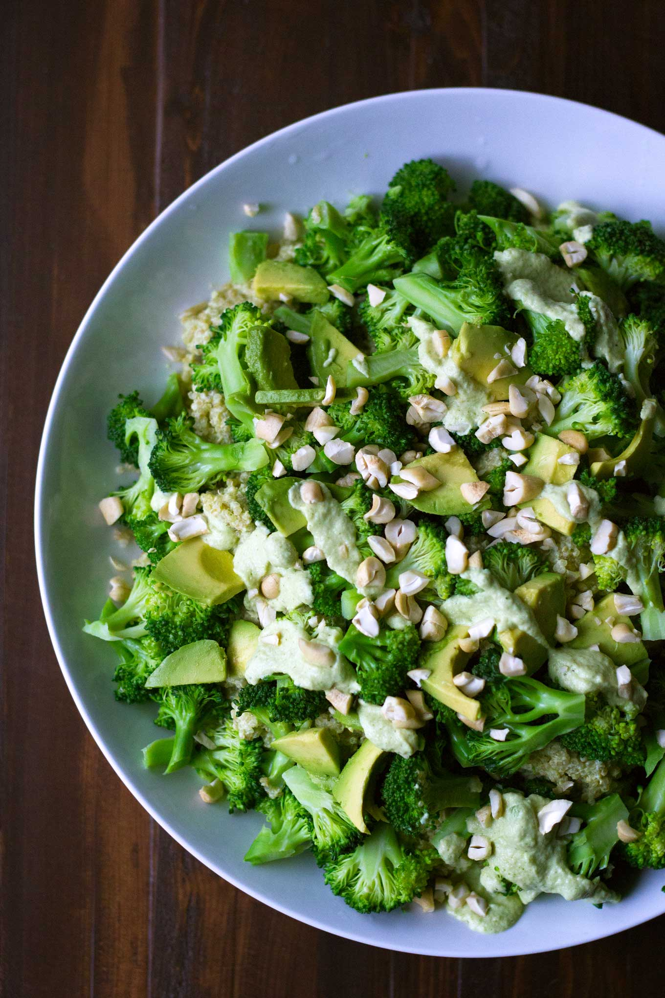 Triple Broccoli Quinoa | Broccoli is the star of the show in this delicious and healthy meal! Packed with protein and and so good for you. Vegan, gluten-free, WFPB | https://eatwithinyourmeans.com/