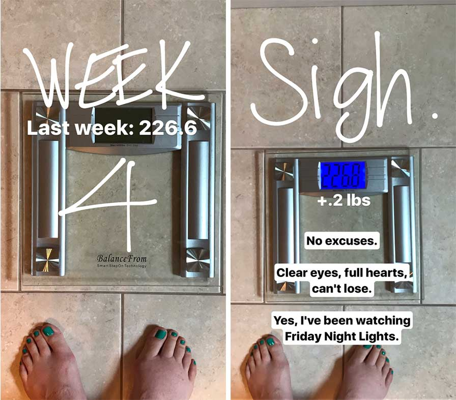 Finding My Means - Week 4 Update | Weight Loss | https://eatwithinyourmeans.com/