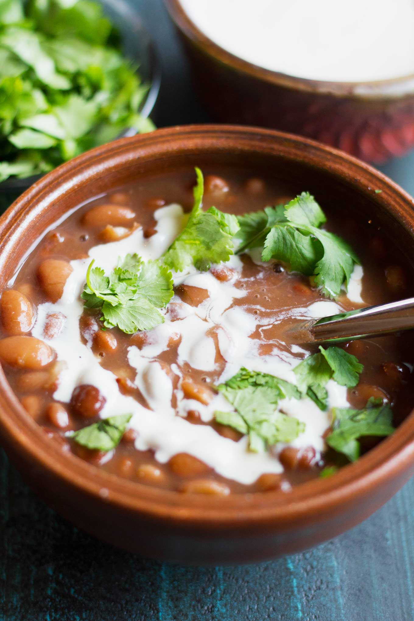Instant Pot Mexican Pinto Beans (Vegan) | Plant-based | Beans | http://www.eatwithinyourmeans.com/