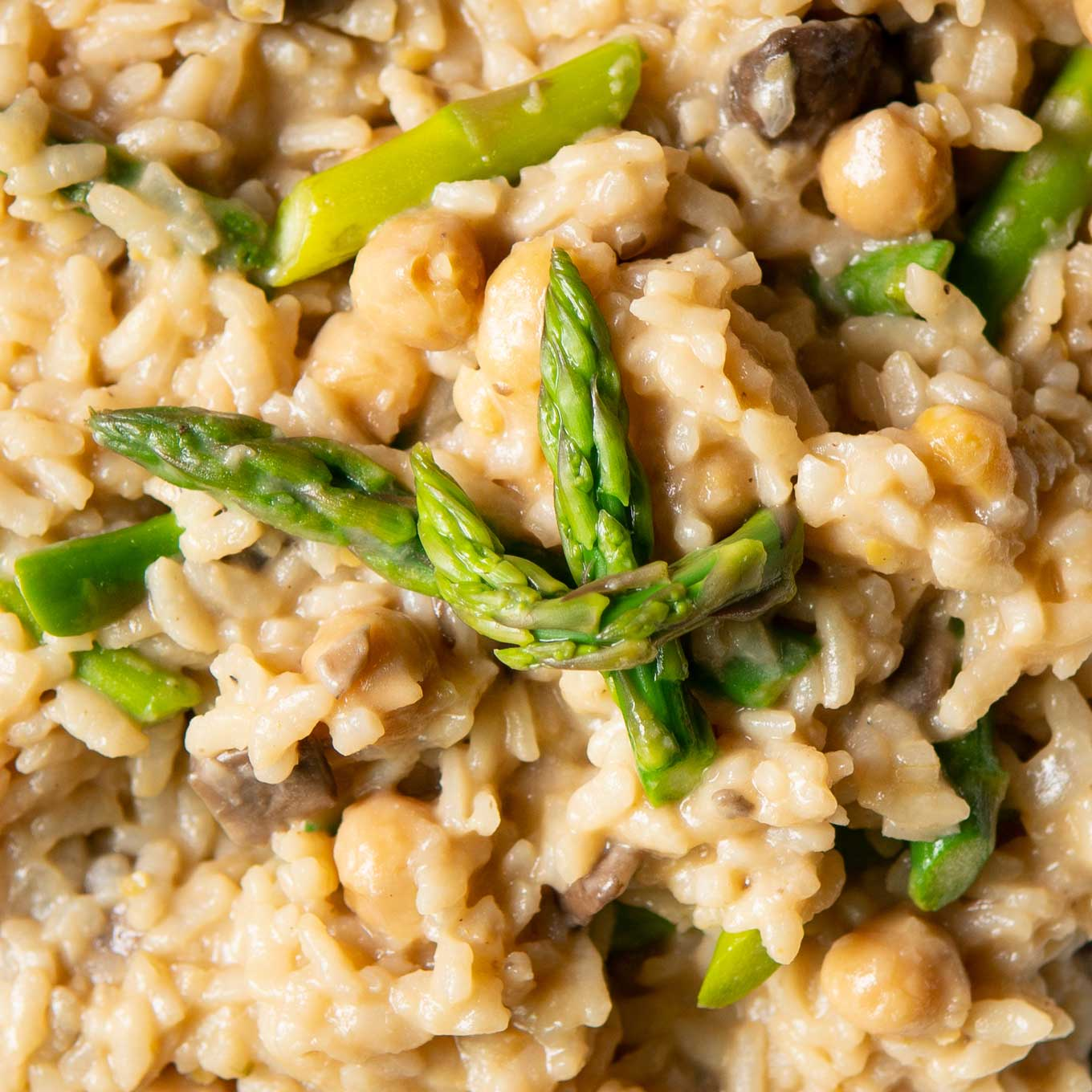 Close-up of Instant Pot Vegan Spring Risotto