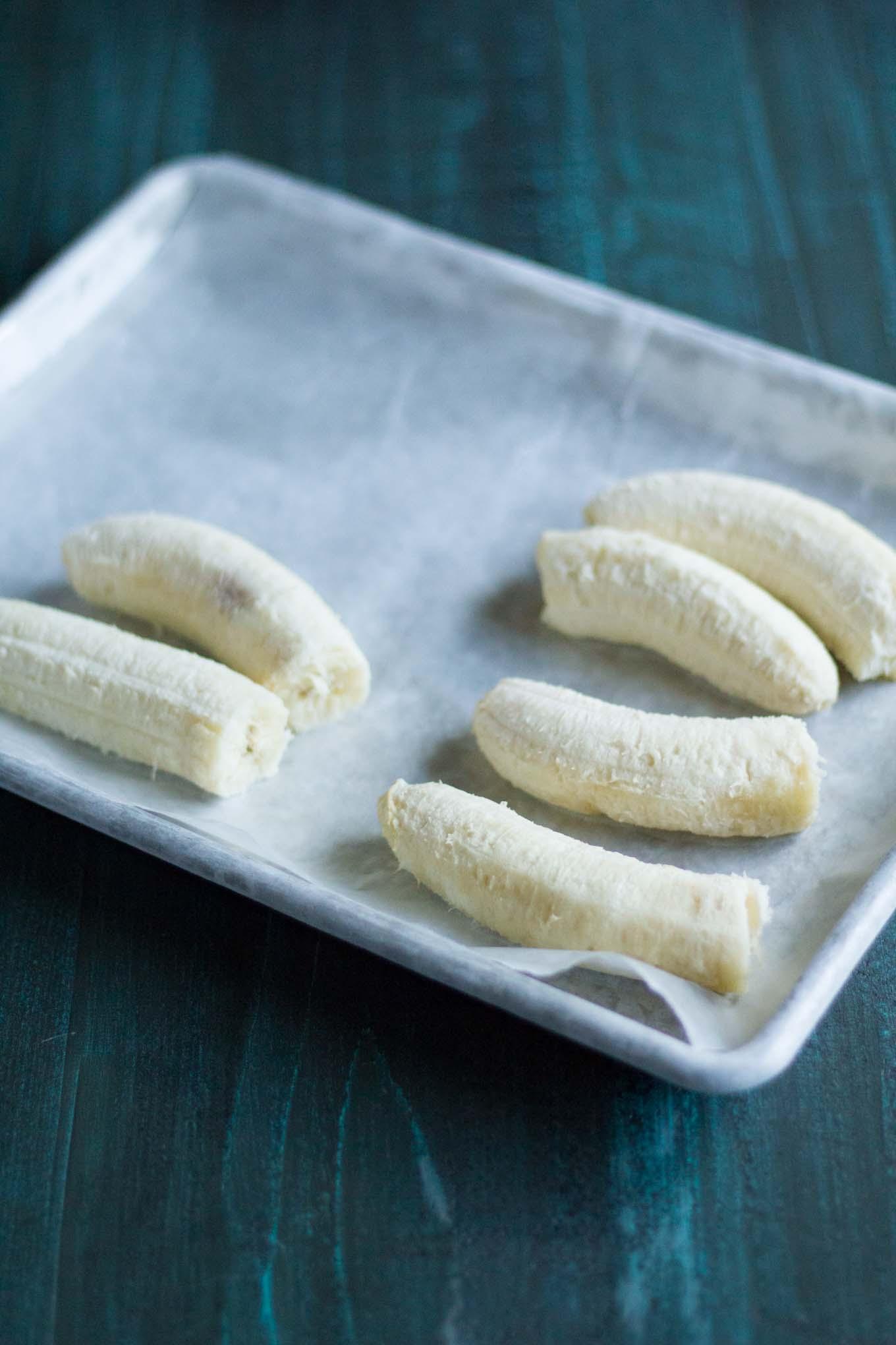 Frozen Bananas   http:/eatwithinyourmeans.com   Vegan
